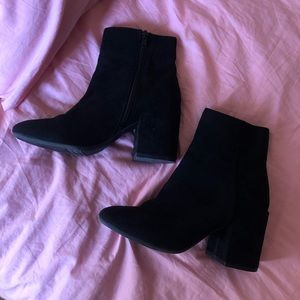 Bar III Black Suede Booties